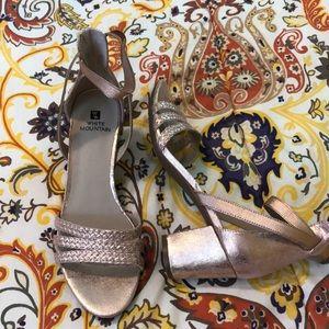 White Mountain rose gold heels. Size 7 1/2